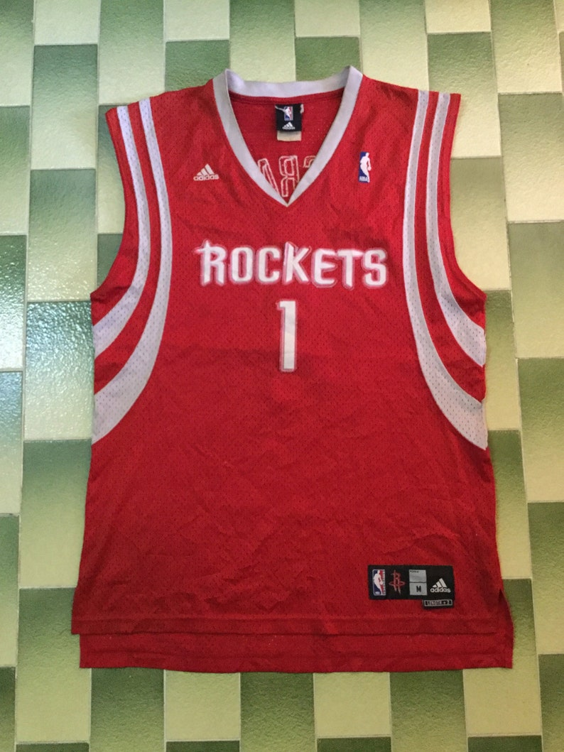 huge discount 70173 5d58d Vintage NBA Adidas Tracy McGrady #1 Houston Rockets Jersey size M basketball