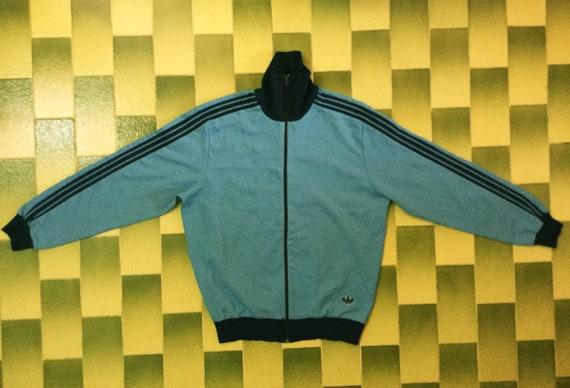 Vintage Adidas Full Zip Track Jacket Size 4 Adidas Trefoil Descente Tracksuit Top