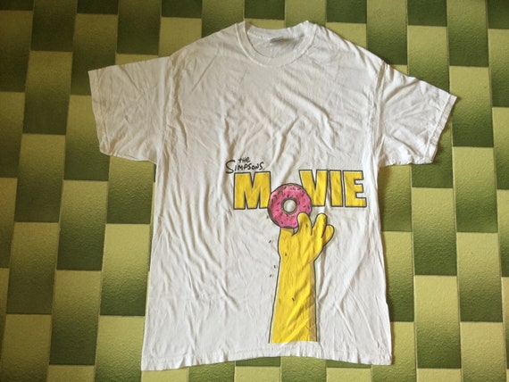 The Simpsons Movie T Shirt Homer Simpson Bart Simpson Tee Etsy
