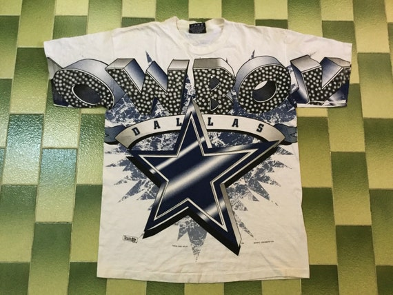 Vintage 90s 1995 NFL Dallas Cowboys All Over print tshirt Size  7c5013eb5