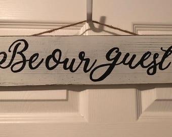 Be Our Guest Wall Hang