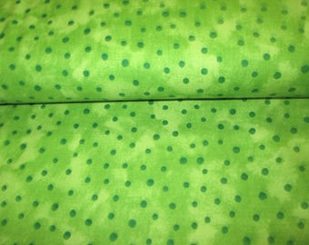 cotton fabric 100% cotton fabric lime green polka dots