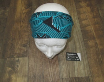 This headband / head /bandeau fashion sleeves green chevron headband