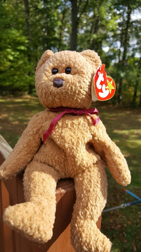 86c517a3ec8 Ty Beanie Baby CURLY The Bear Collectibles Retired Beanie