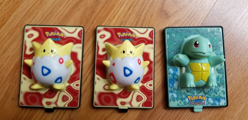 Pokemon The Movie Burger King Power Card TOGEPI, SQUIRTLE Promo Nintendo  LOOSE