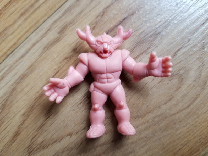 1985 VINTAGE M.U.S.C.L.E muscle man men wrestling wrestler 1985 action figure Mattel anime flesh color toy ogre troll