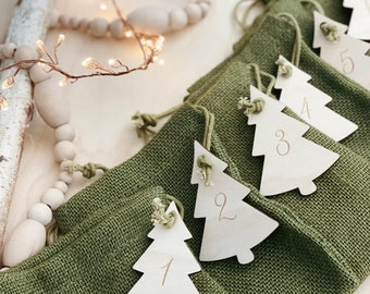 Tree Wooden Advent, Wooden Advent Calendar, Wooden Advent, Advent calendar, Wooden Advent numbers, Advent Numbers, DIY Advent Calendar