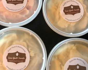 Buttercream, Protein Cream Cheese, Sugar Free, Vanilla, Chocolate, PB, Chocolate Chip, Mint, Lemon, Marshmallow, Caramel, Coffee, Popcorn