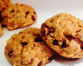 Chocolate Chunk Peanut Butter Cookies, Gluten Free, High Protein, Chocolate Chip, Low Sugar, Low Carb, Natural Ingredients