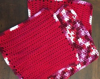 Crochet Cotton Dish Cloths - Set of 3