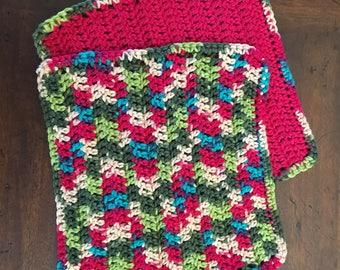 Crochet Cotton Dish Cloths - Set of 2