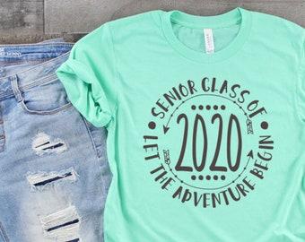 c18eeb2f8 Class of 2020 Shirt, Senior Shirt, Graduation Shirt, Class of 2020 TShirt,  Senior Shirt 2020, Class of 2020 Gift, Senior Gifts