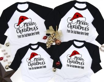 Custom Name Christmas T shirt Kids Christmas Pajamas Custom Family Christmas Shirts Matching Family Shirts Kids Christmas Shirts
