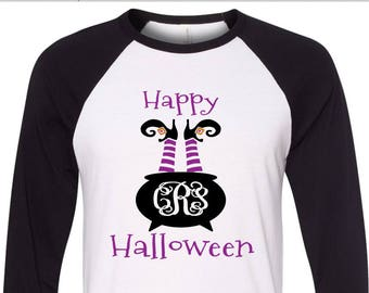 more colors halloween monogram shirt