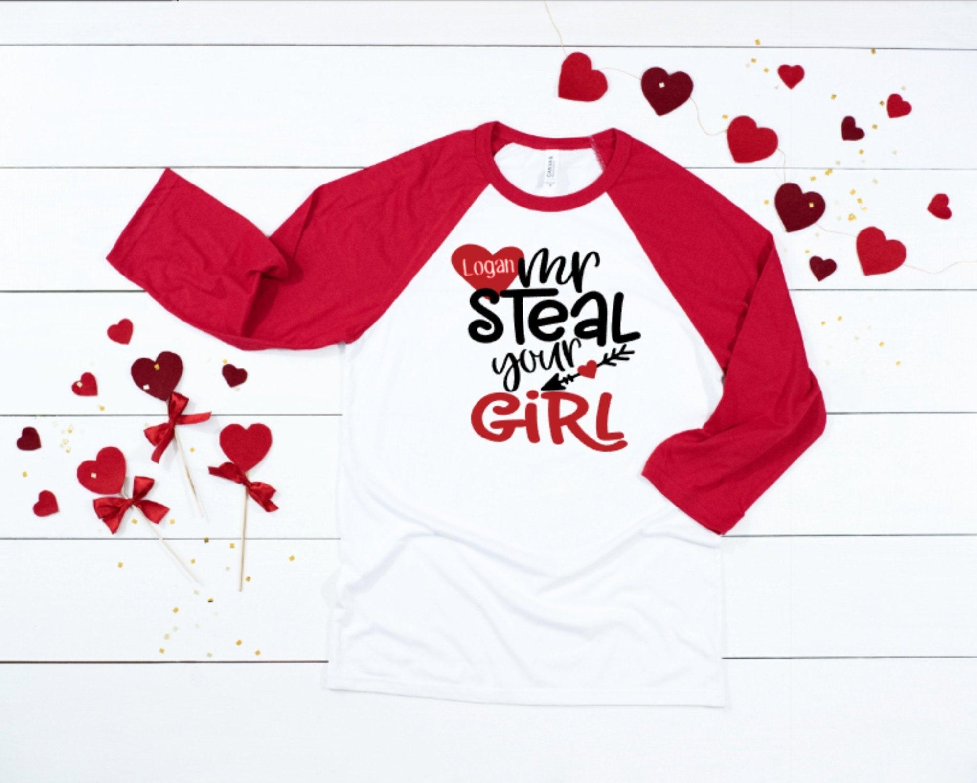 7ffebb26b Boys Valentines Shirt Boys Valentine Day Raglan Toddler Boy | Etsy