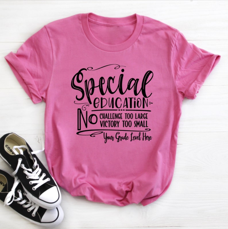 SPED Shirt Special Education Shirt Special Education Charity Pink