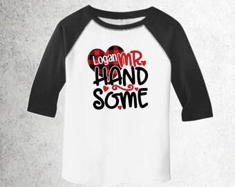 Boys Valentine Shirt, Boys Personalized Valentines Shirt, Boys Custom Valentines Day Shirt, Boys Valentines Raglan, Toddler Valentine Shirt