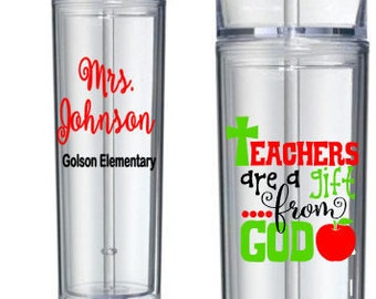 Teacher Cup - Christian Cup - Christian Teacher Cup - Teacher Gift - Gift for Her - End of School Gift - Teacher Appreciation Gift
