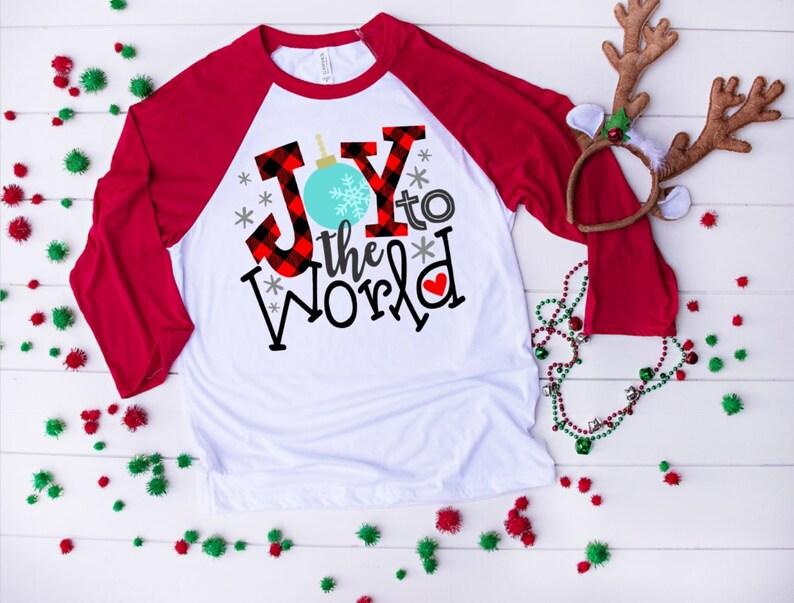 524d140dd Joy to The World Shirt Womens Christmas Shirts Buffalo Plaid   Etsy