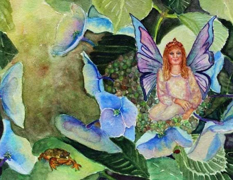 Fairy Fairies Watercolor Painting Fantasy Original Watercolor image 0