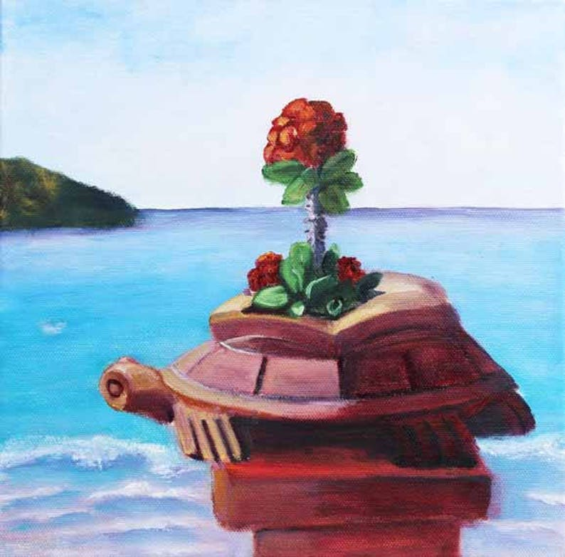 Landscape painting Zihuatanejo Mexico Oil on Canvas Original image 0