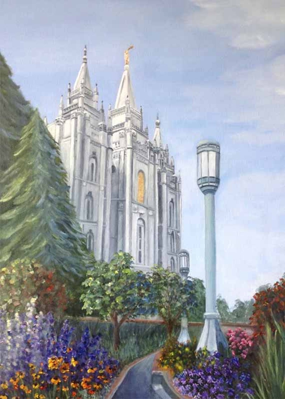 Salt Lake Temple Painting Oil Painting Original Art Prints image 0