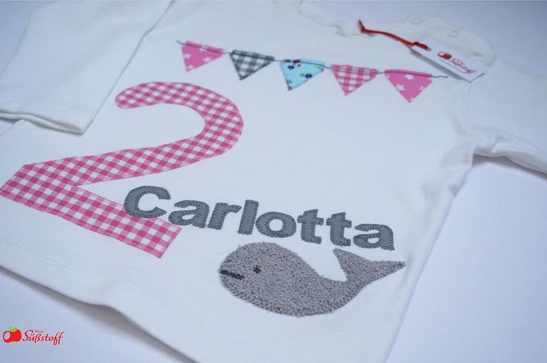26f66a00633d95 Geburtstagsshirt für Mädchen Wal Shirt 2.