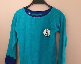 70s Pulli Frottee Kinderpulli Pullover 98 104 110 vintage retro Kinderkleidung waldorf camisola