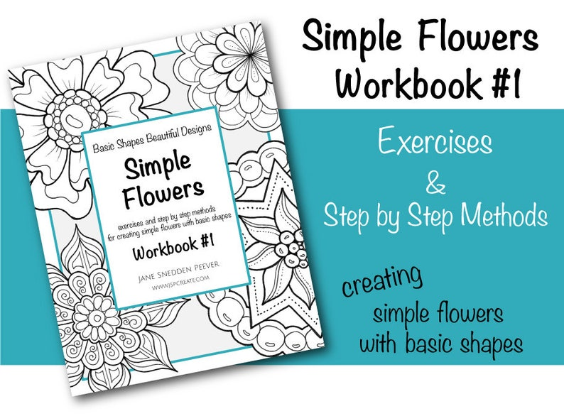 Simple Flowers Workbook 1 PDF 105 pages of drawing | Etsy