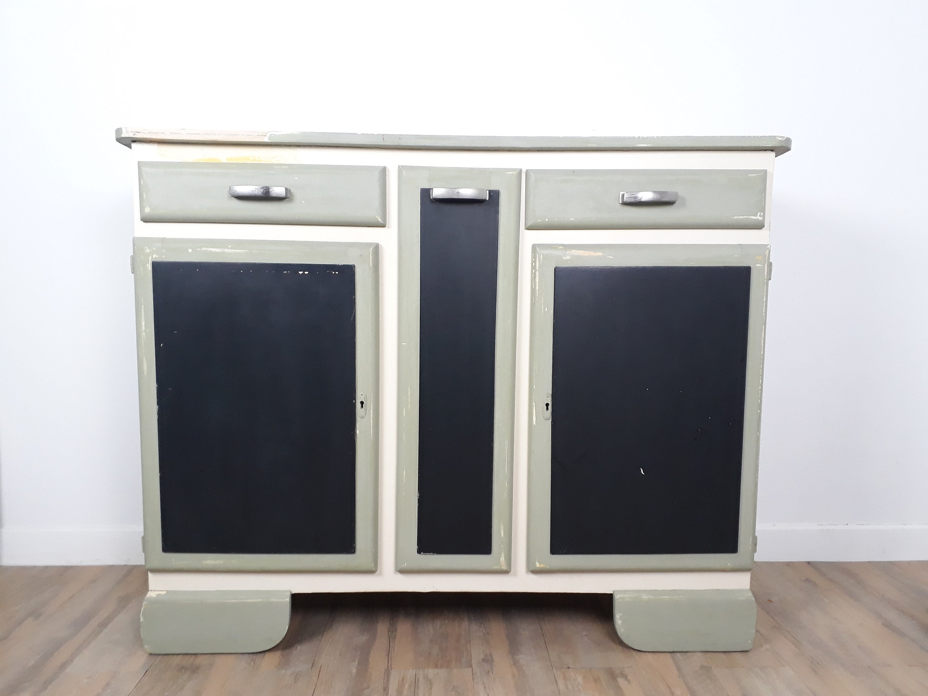 Buffet Cabinet Bottom Antique Buffet Mado Sage Green Patina Etsy