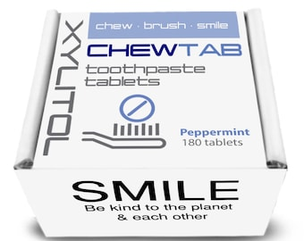 Chewtab Toothpaste Tablets Refill, Peppermint 180 Count