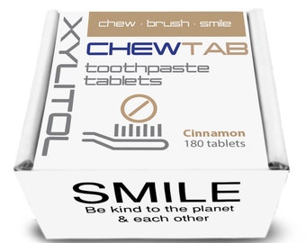 Chewtab Toothpaste Tablets Refill, Cinnamon 180 Count