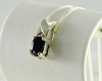 Petite Onyx Pendant on a sterling Chain 18""