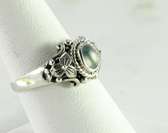 Sterling Turquoise Ring Size 8.5 (AB)