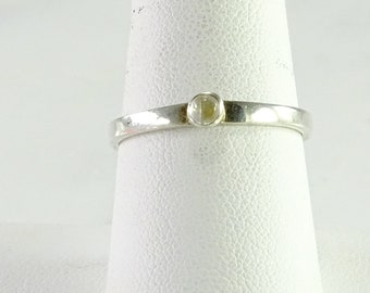 Thin Sterling Silver Stack Ring Size 8.75