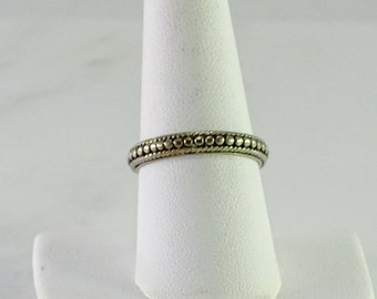 Beaded Sterling Stack Ring Size 8.5