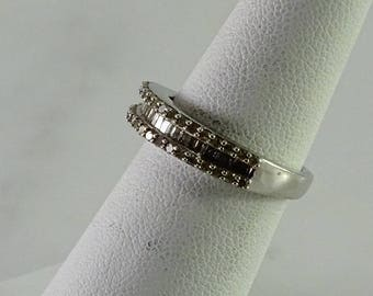 Sterling Clear Stone Stackable Ring Size 6
