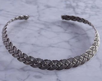 Braided Sterling Silver Neck Cuff