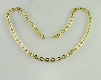 "14K Yellow Gold Link Necklace ( 17"")"
