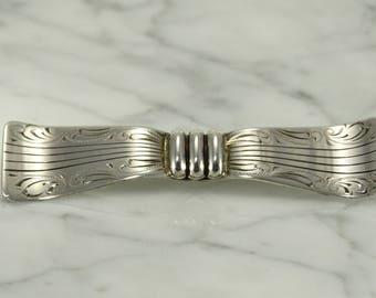 Antique Bow Tie Brooch (.835 silver)