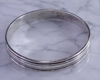 Hand Wrought Sterling Bangle by William de Matteo Williamsburg