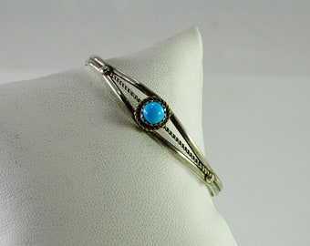 Very Petite Turquoise Sterling Cuff Bracelet