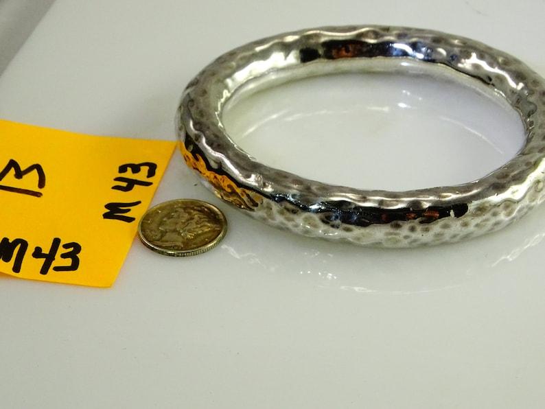 Big Sterling 11mm Bangle Bracelet