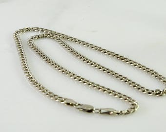 "Curb Link Neck Chain 20"" Sterling"