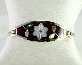 Old Mexico Inlaid Sterling Bracelet