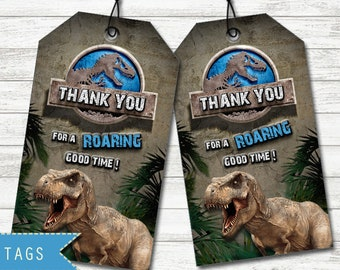 Jurassic World Favor Tags Party Printable Dinosaur