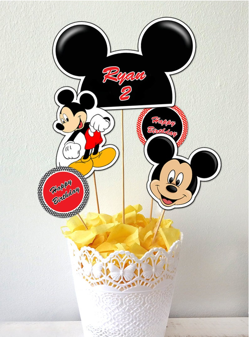Mickey Mouse Cake Toppers Mickey Mouse Printable Centerpiece Mickey Mouse Centerpiece