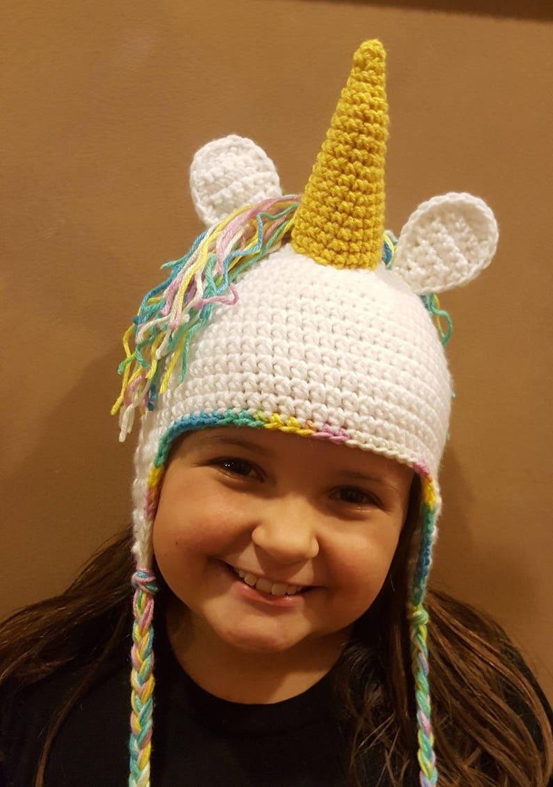 Unicorno cappello uncinetto unicorno cappello Beanie  206aa4f5505d