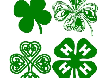f4a63cbcb Shamrock set of 4 St Patricks Day 4H Clover SVG Vector File