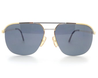 Genuine 1980s Burberry B8826 5DGVintage Polarised Aviator Sunglasses // Made in Austria // New Old Stock